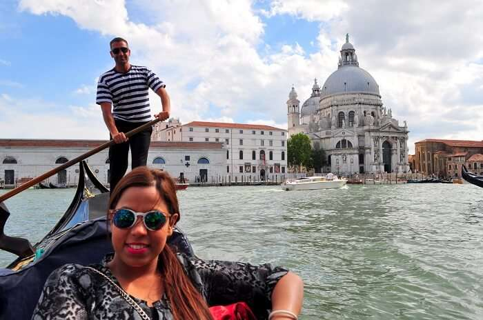 Sun-kissed Venice during the gondola tour