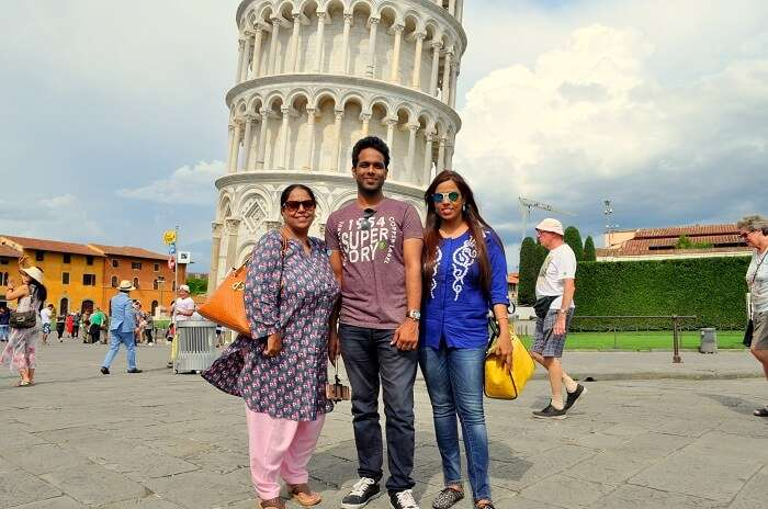 Shreshth and his family in Florence