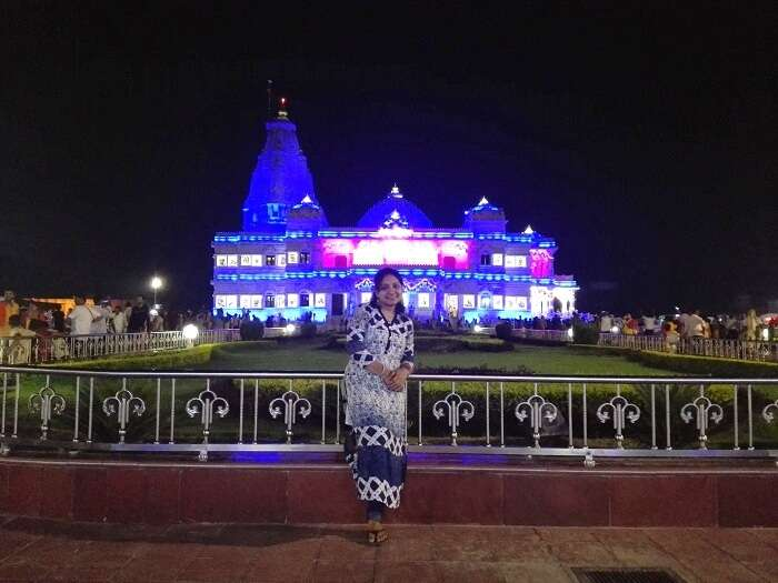 Beautiful photo of Prem Mandir in Vrindavan
