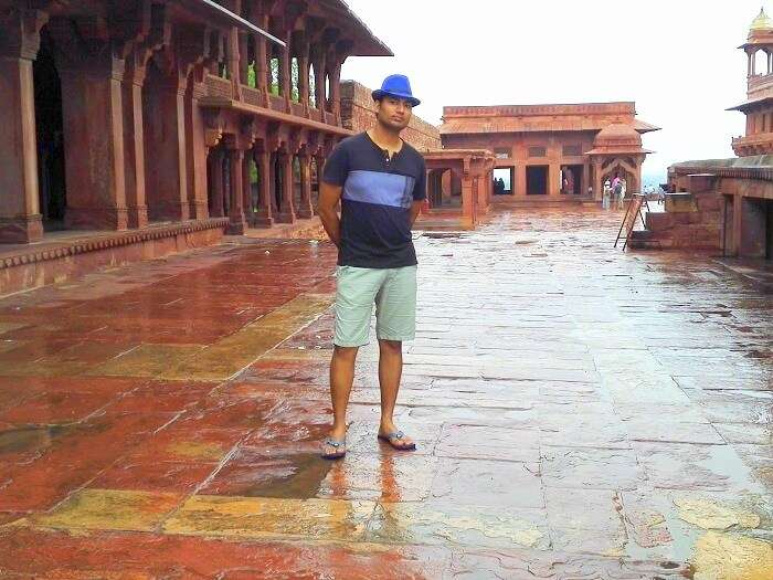 Vineet in Fatehpur Sikri