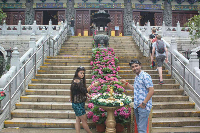 Mitual and his wife on the Macau City Tour