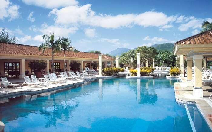 Chill at the pool of Grand Coloane Resort