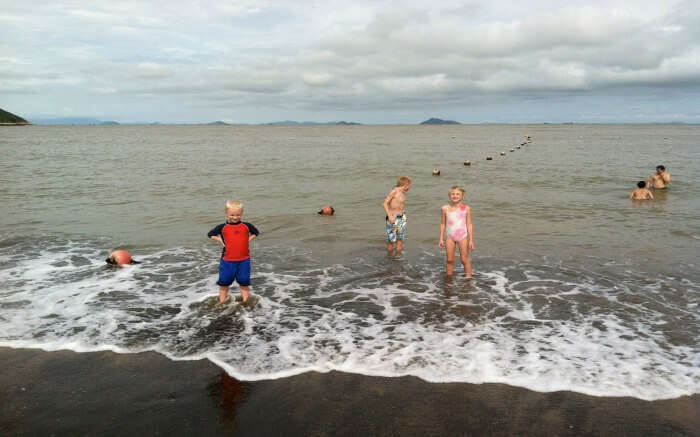 Kids enjoying in Hac Sa Beach
