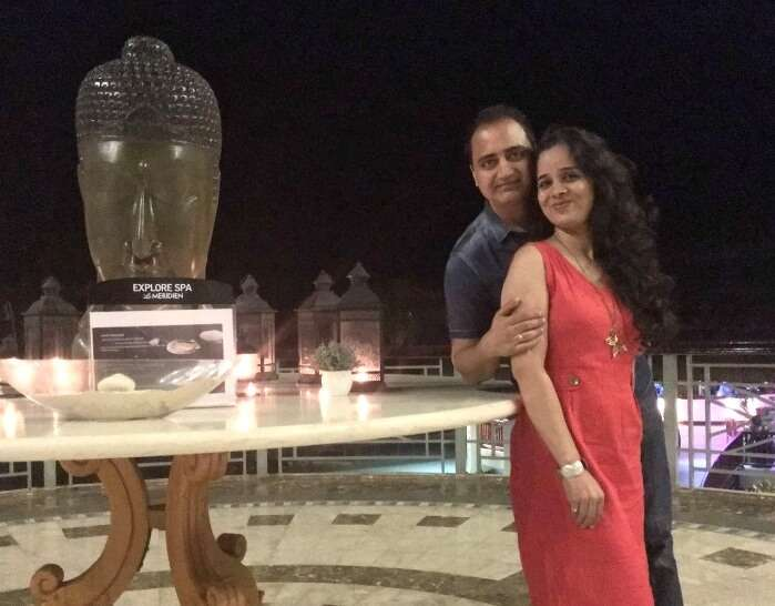 Raj Kumar and his family at Le Meridian Hotel Mauritius