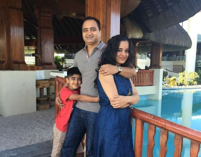 Raj Kumar and his family on the south island tour of Mauritius