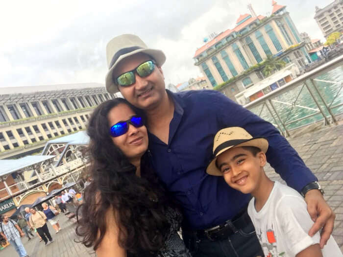 Raj Kumar and his family do sightseeing in Port Louis