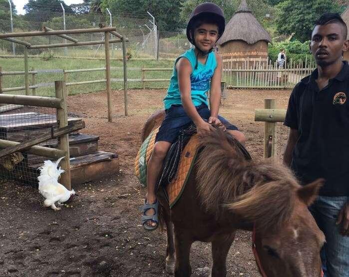 Raj Kumars son at Casela Nature Park