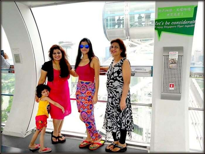 Srishti and her family take the Singapore city tour