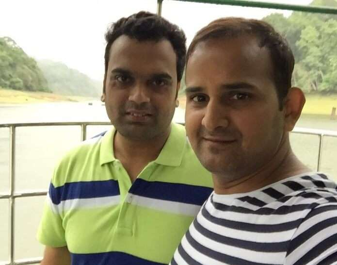 Ravi and his brother at the Periyar river forest tour