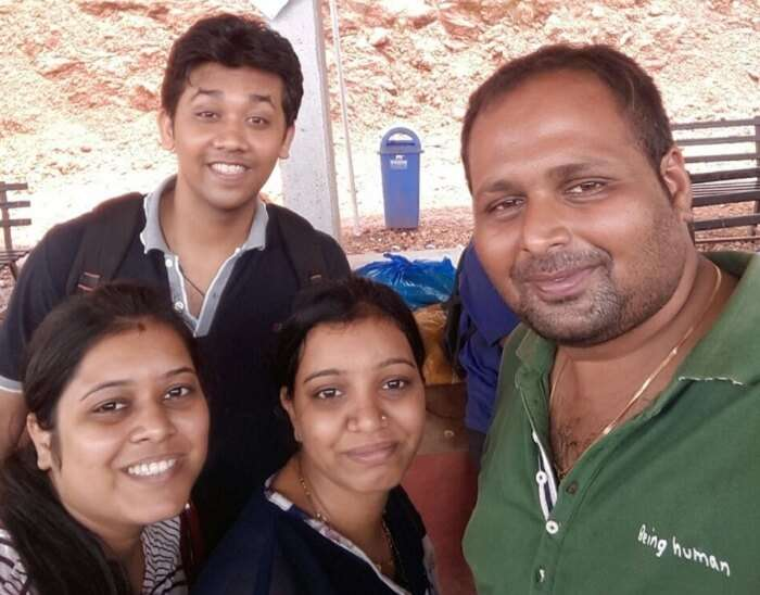Chetan and his wife with their friends in Goa