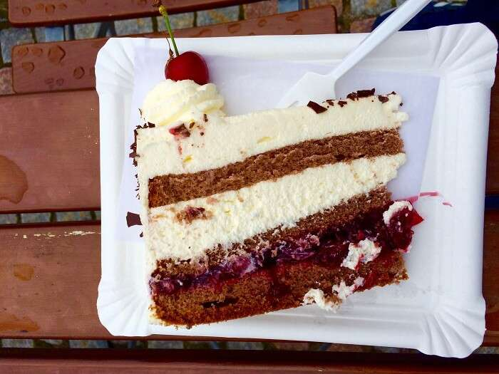 Traditional black forest pastry