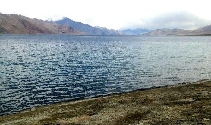 The serene Pangong Lake in Leh