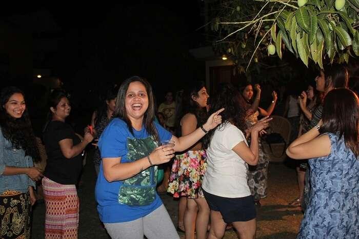 Girls having a party at Myrica Resort Jim Corbett