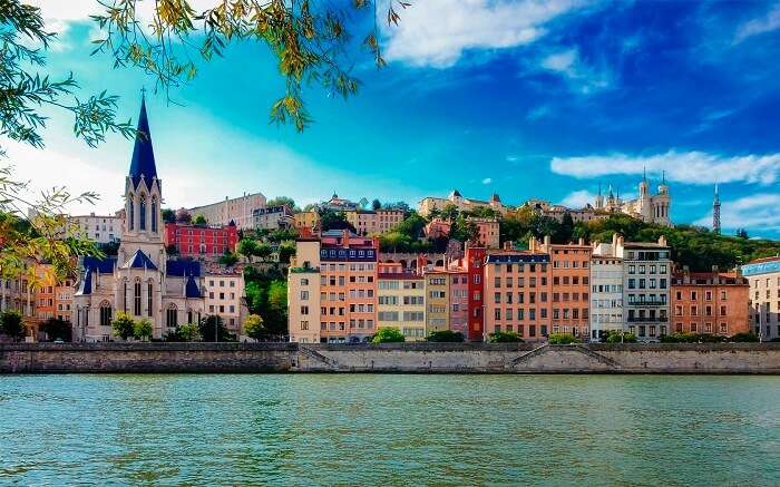 The beautiful tourist place of Lyon in France