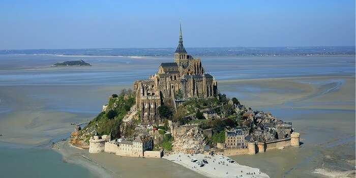 The beautiful island commune of Mont Saint-Michel is one of the most popular tourist places in France