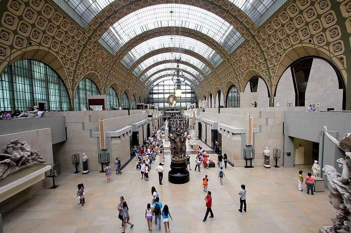 The dome like roof of Musee d'Orsay - One of the popular museums in Paris