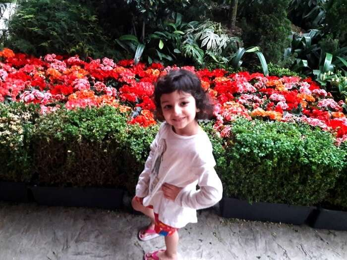 Srishti niece at Garden by the Bay