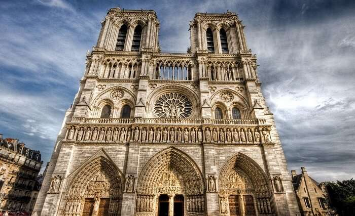 Entrance of Notre Dame Cathedral - one of the most popular places to visit in Paris
