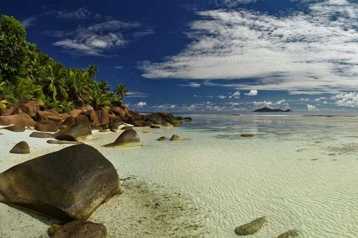 A beautiful beach at Silhouette island that is one of the most beautiful places to visit in Seychelles
