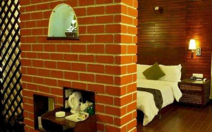 Stay in the wood panelled rooms of The Nettle and Fern Hotel that has an ATM inside the building itself.