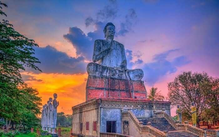 The statue of Buddha at Battambang in Cambodia