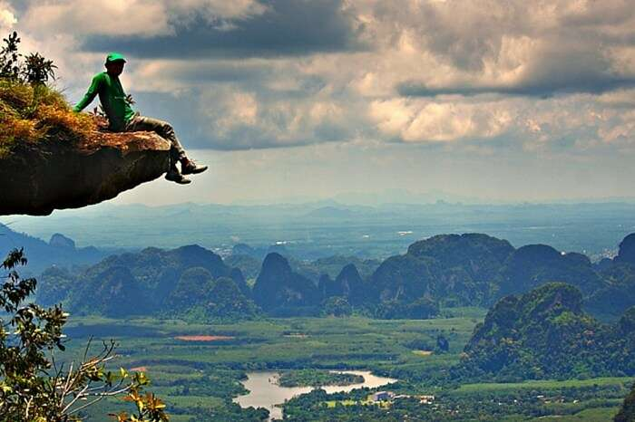 Trek through the treacherous alleys to reach Khao Ngon Nak Viewpoint