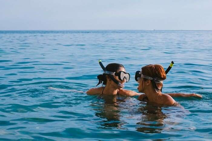 Young couple snorkeling in Phuket