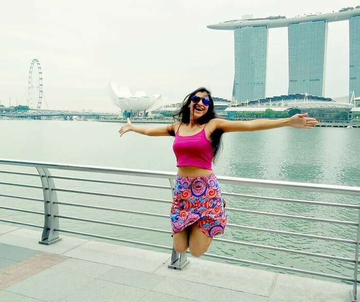 Srishti at the Singapore flyer