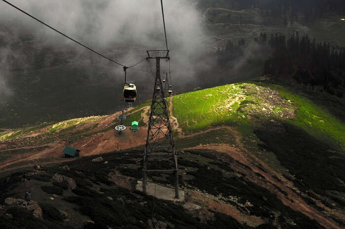 Taking a Gondola ride in Gulmarg is one of the fun things to do in Kashmir