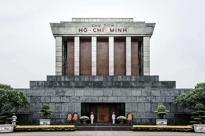 The entrance to the Ho Chi Minh Mausoleum that is one of the best places to visit in Vietnam