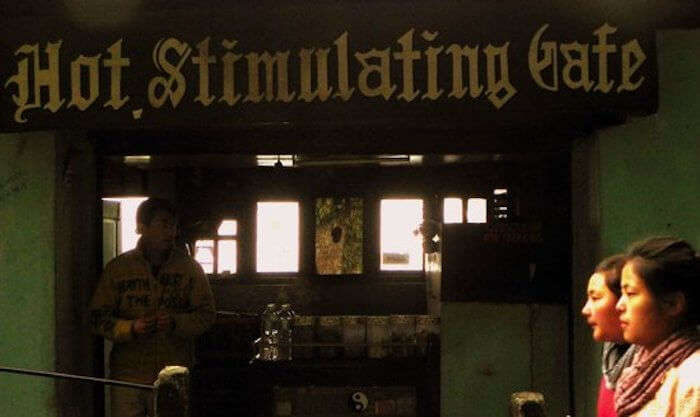 Hot Stimulating Cafe in Darjeeling