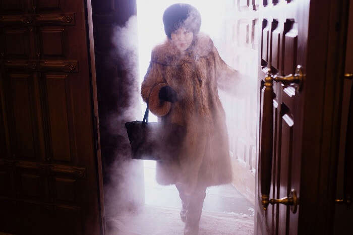 A woman bears the cold of Oymyakon in winters to visit a cathedral