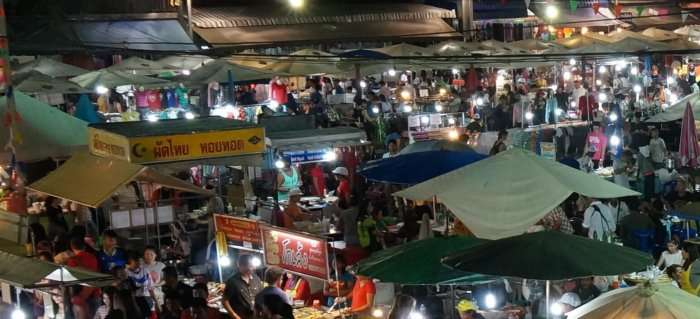 Krabi night market view