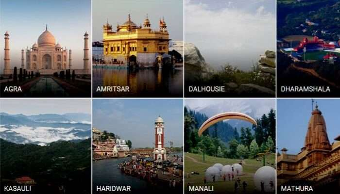 Some of the major places to visit in North India