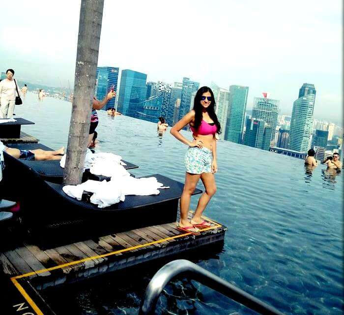Srishti at the Marina Bay Sands hotel pool