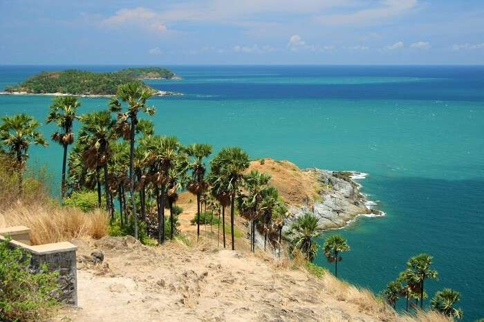 Picturesque view from Promthep Cape viewpoint in Phuket