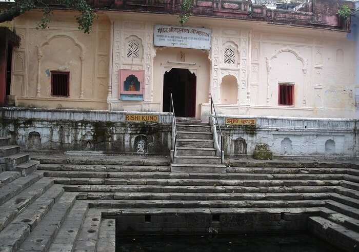The hot water springs at Rishikund are a part of the Raghunath temple.