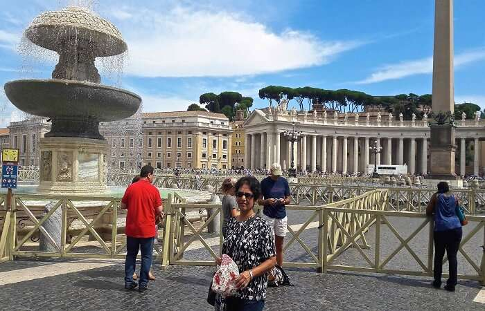 Outside St Peter's Square