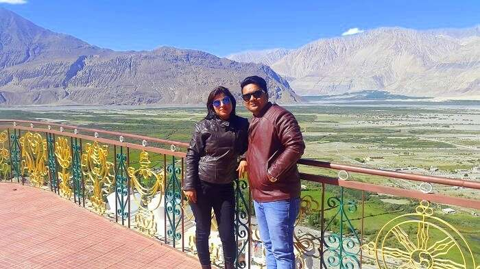 Vishal and his wife in Ladakh