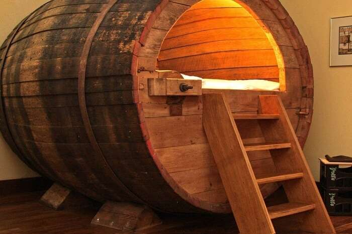 The unique beer barrel stay at Ostbevern in Germany