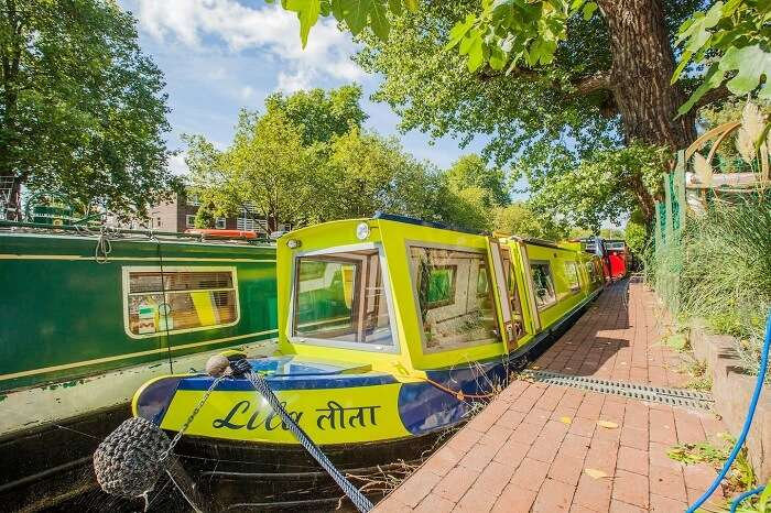 The designer Lila Houseboat in Central London