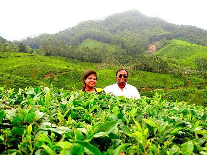Suvankar and his wife in Munnar