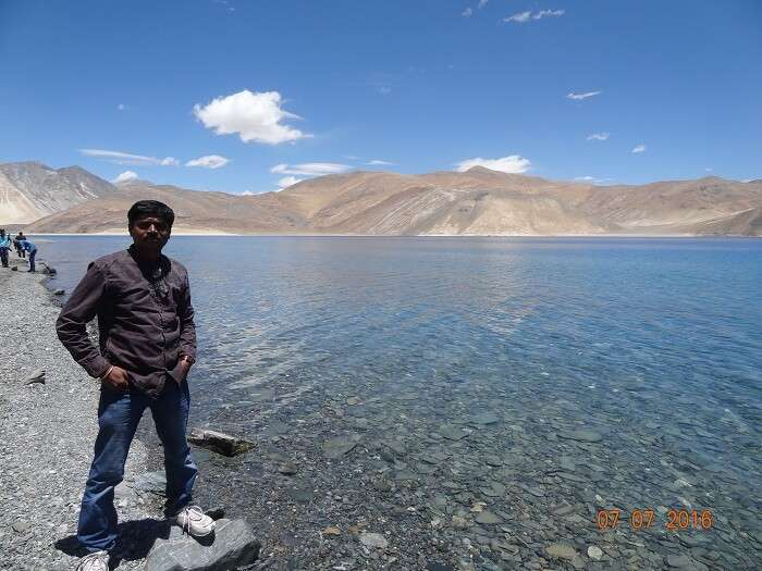 Pristine view of the Pangong Lake