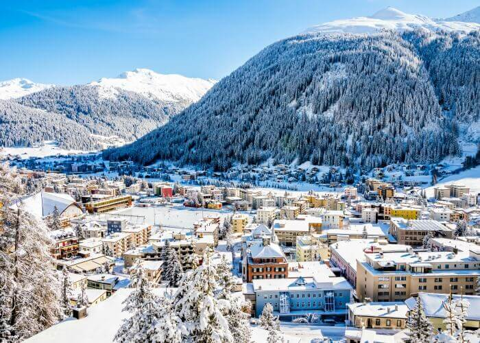 The charming town of Davos