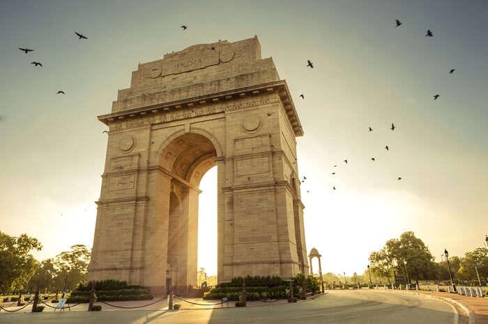 India Gate at Delhi in India