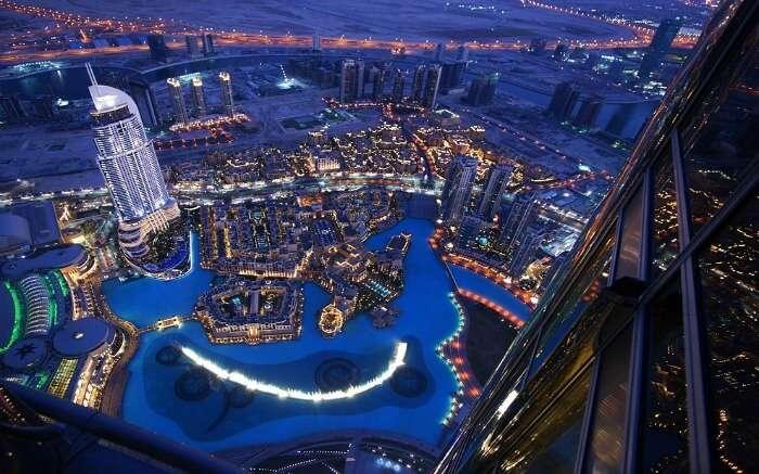 Dubai view from Burj Khalifa