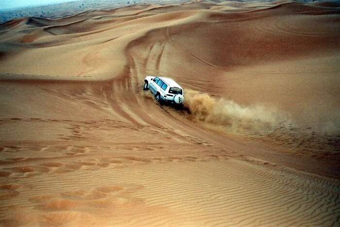 An SUV dune bashing in Rajasthan