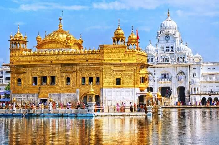 A beautiful shot displaying the grandeur of the Golden Temple in Amritsar