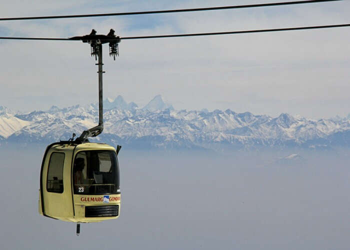 Enjoy a Gandola ride in Gulmarg