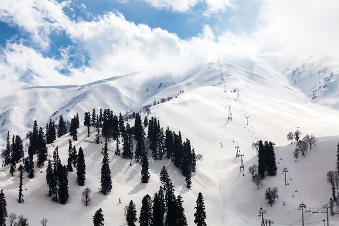 Budget stays in Gulmarg in India